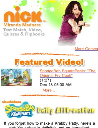 Nickelodeon's online place for Kids!