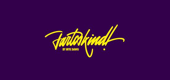collection of 46 beautiful logos using handwriting fonts