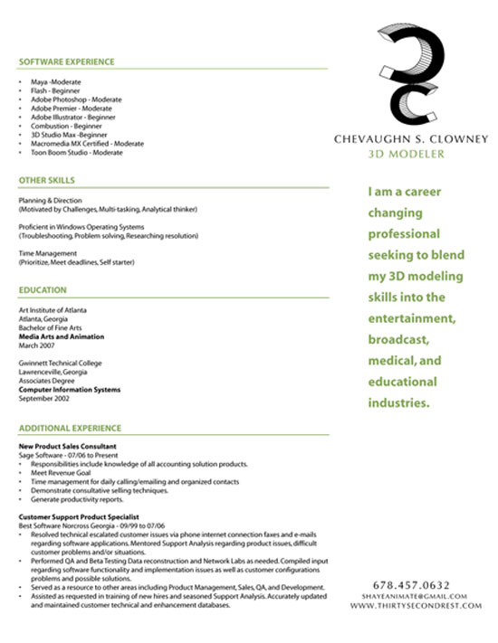 50 examples of simple creative resume