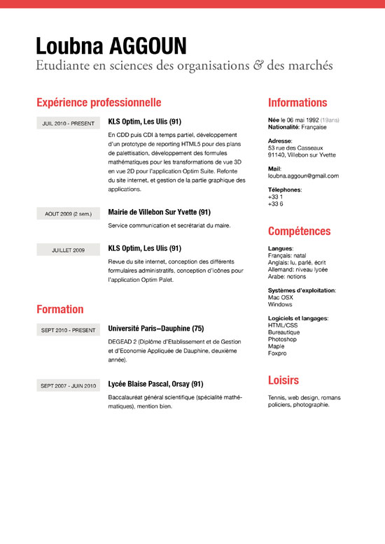 50 examples of simple creative resume - Simple resume design ...