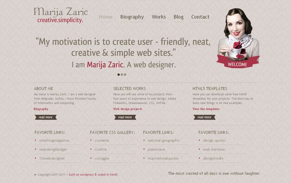 15 50 Inspirational Websites Powered By HTML5