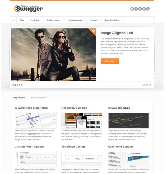 Swagger Responsive WordPress Theme
