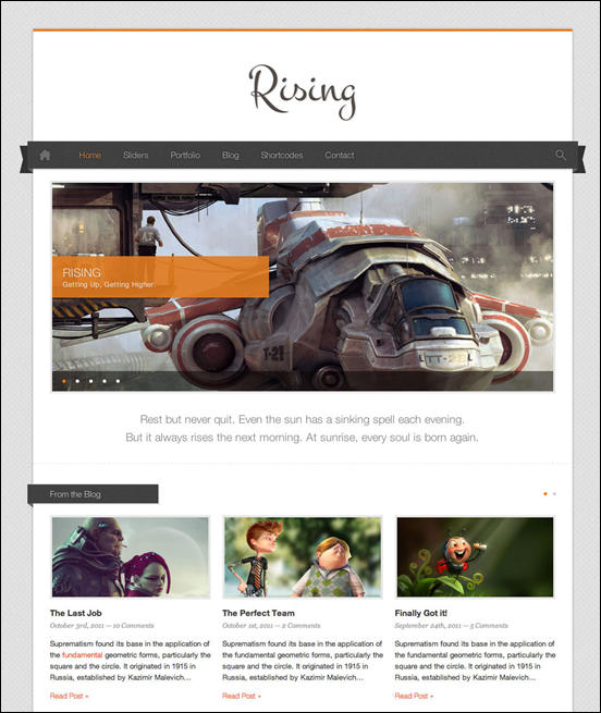 Rising - Fully Responsive WordPress Theme