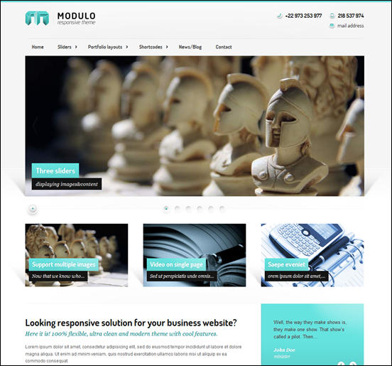 Modulo - Responsive premium theme