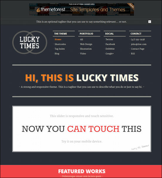 Lucky Times. Responsive