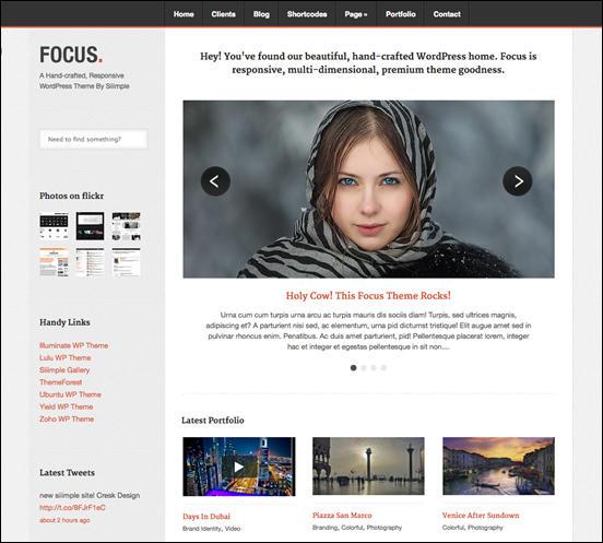 Focus - Responsive Portfolio & Business