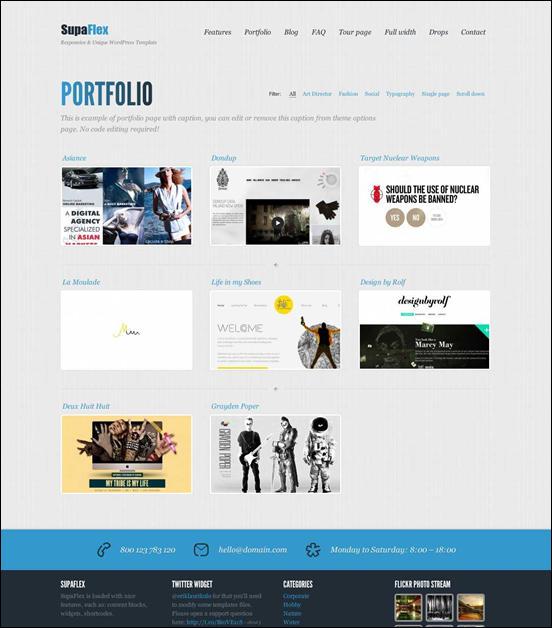 SupaFlex - Corporate / Creative WordPress Theme