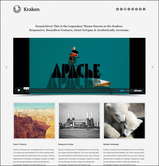 Kraken Business & Portfolio WordPress Theme