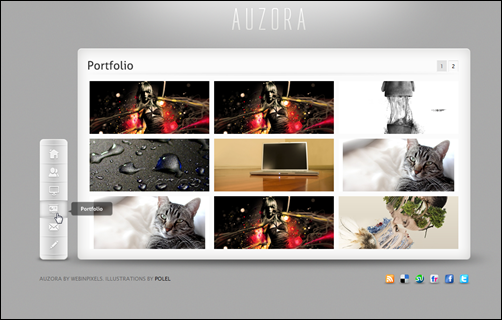 Auzora - One Page Portfolio and Business theme