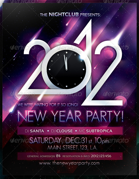 2012 Party Flyer Poster