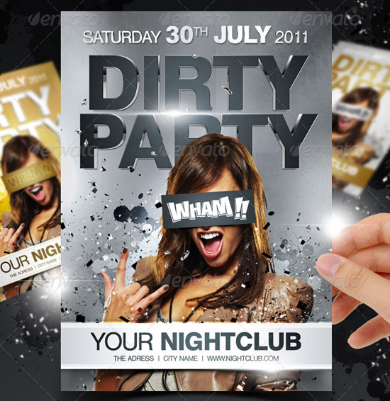 Dirty Party flyer