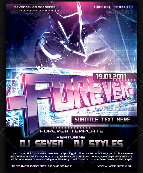 Forever Poster Flyer Template