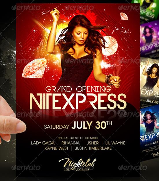 Nitexpress Party Flyer