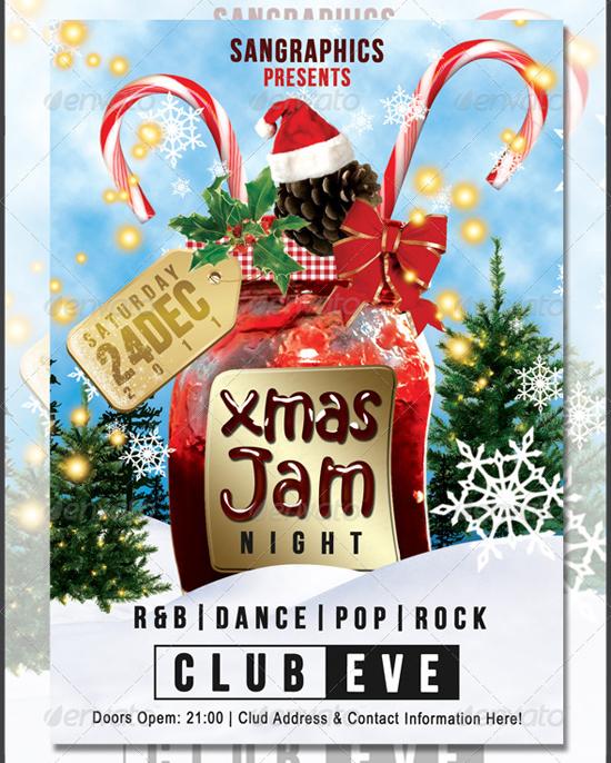 Christmas Jam Flyer Template