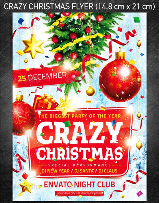 Crazy Christmas Flyer Template