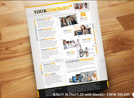 Company info flyer template