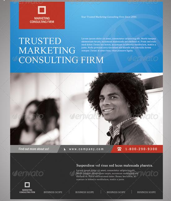 General purpose corporate flyer template