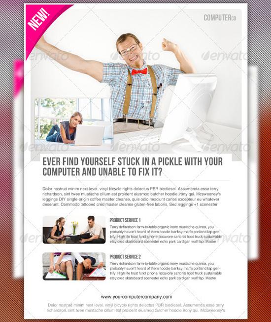 Magazine Advertisement Template PSD