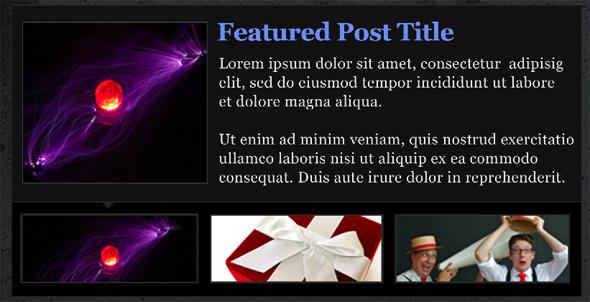 Design An Elegant Featured Content Slider for WordPress