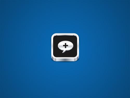 Carbon Fibre Style Metallic Icon Design
