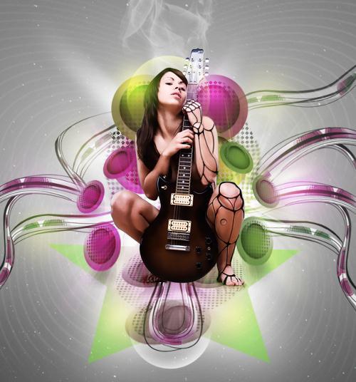 music photoshop poster tutorials