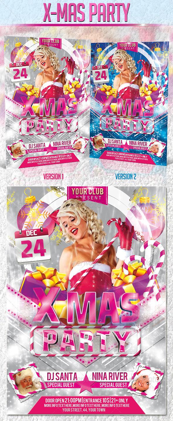 X-Mas Party Flyer Template