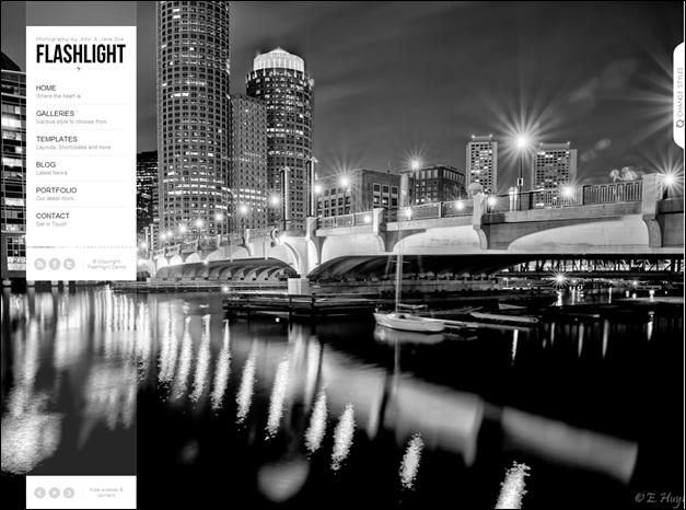Flashlight – full Screen background portfolio theme