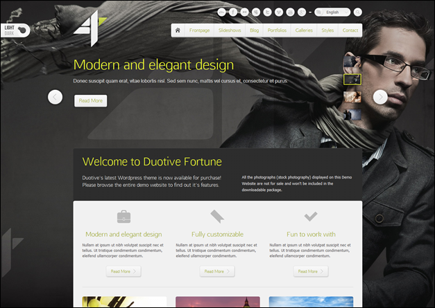 Duotive Fortune – WordPress Theme