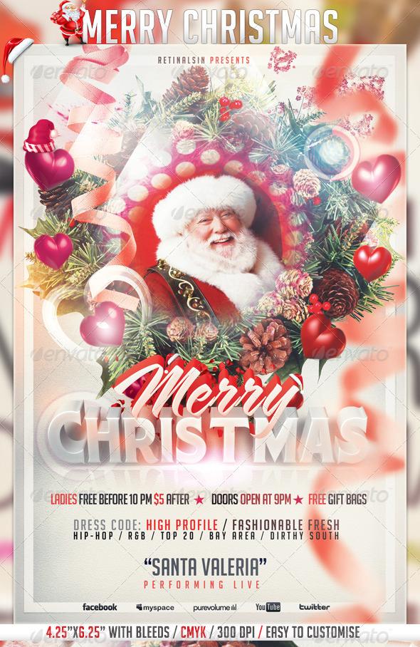 Best Christmas Flyer Templates For 2012 56pixels