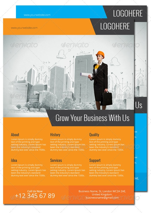 corporate flyer a4 & a3