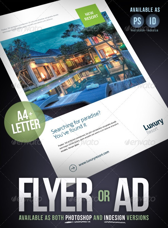 flyer, magazine ad or product sheet