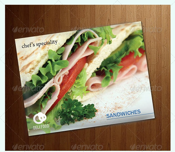 food recipes & ads brochure or flyer