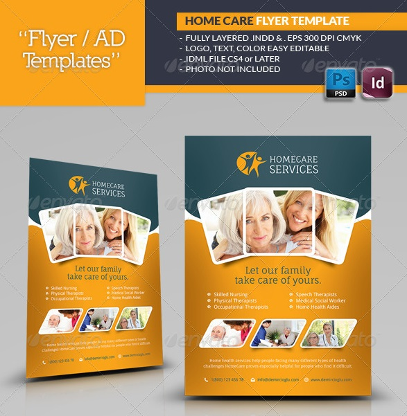 home care flyer templates