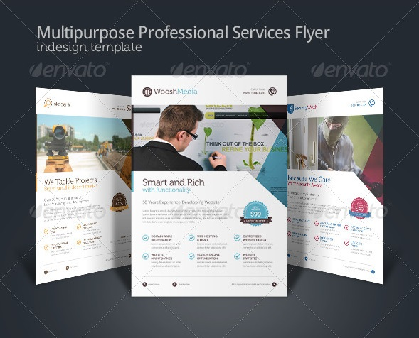 multipurpose professional services flyer ad