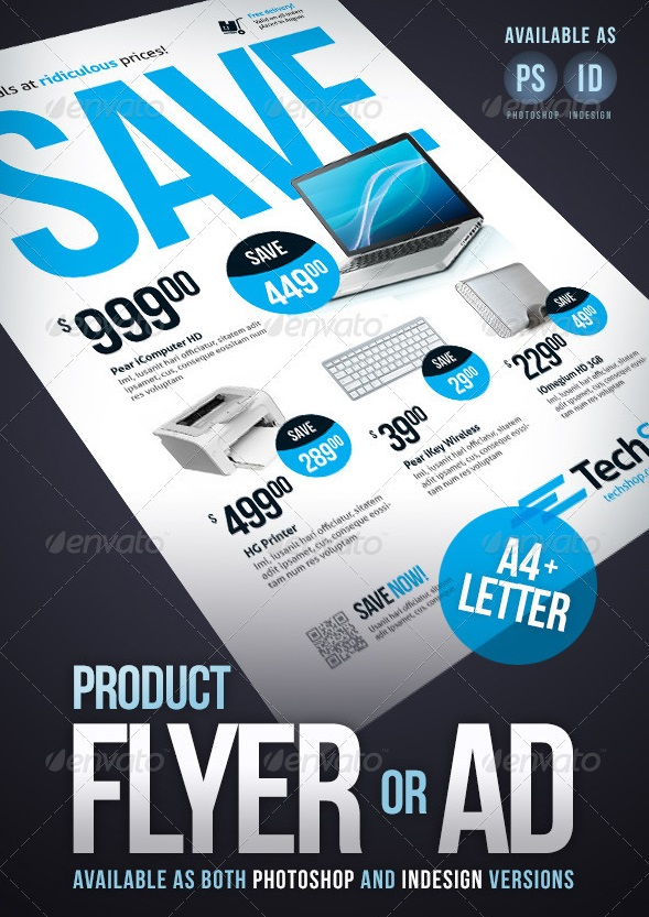 product flyer / ad