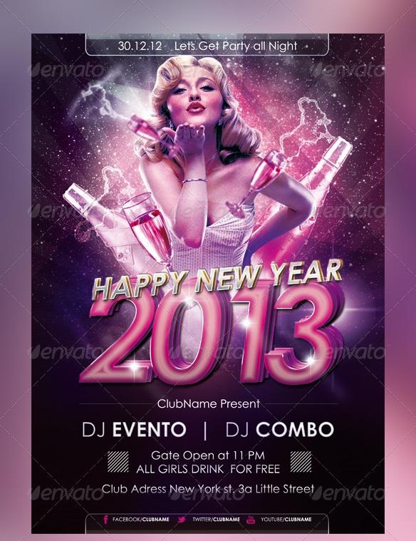 NYE 2013 Flyer Poster