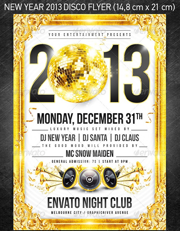 New Year 2013 Disco Flyer