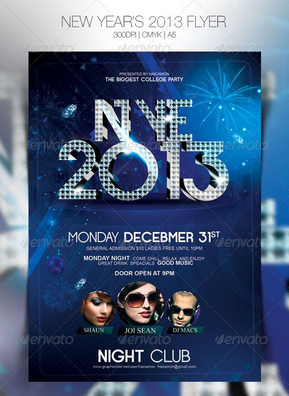 New Years 2013 Flyer