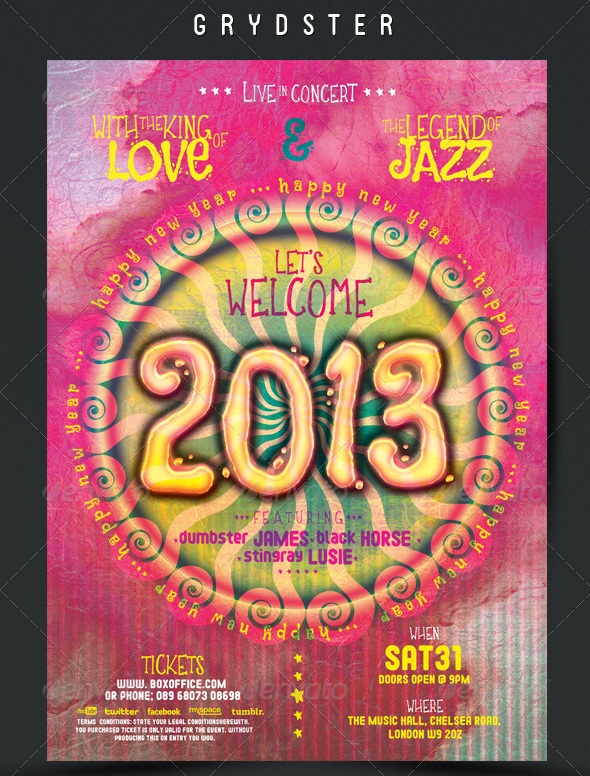 New Year Flyer Poster