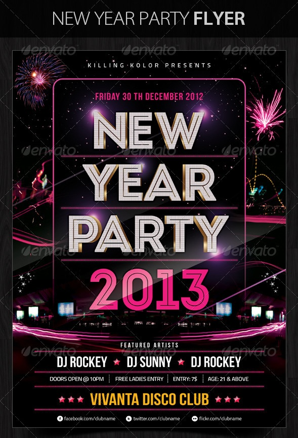 30 Best New Year Flyers Of 2013 56pixels Com