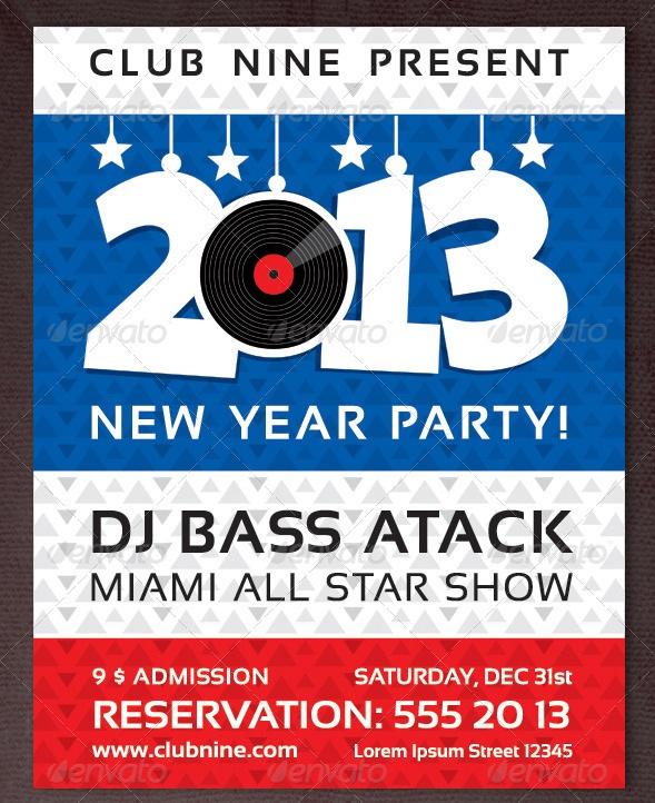 New Year Party Vinyl Flyer