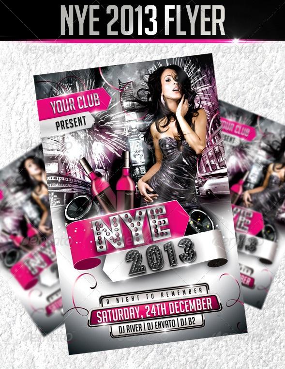 Nye 2013 Flyer Template