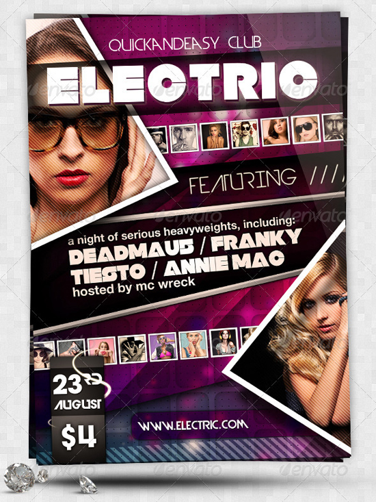 Electric A5 PSD Party Flyer