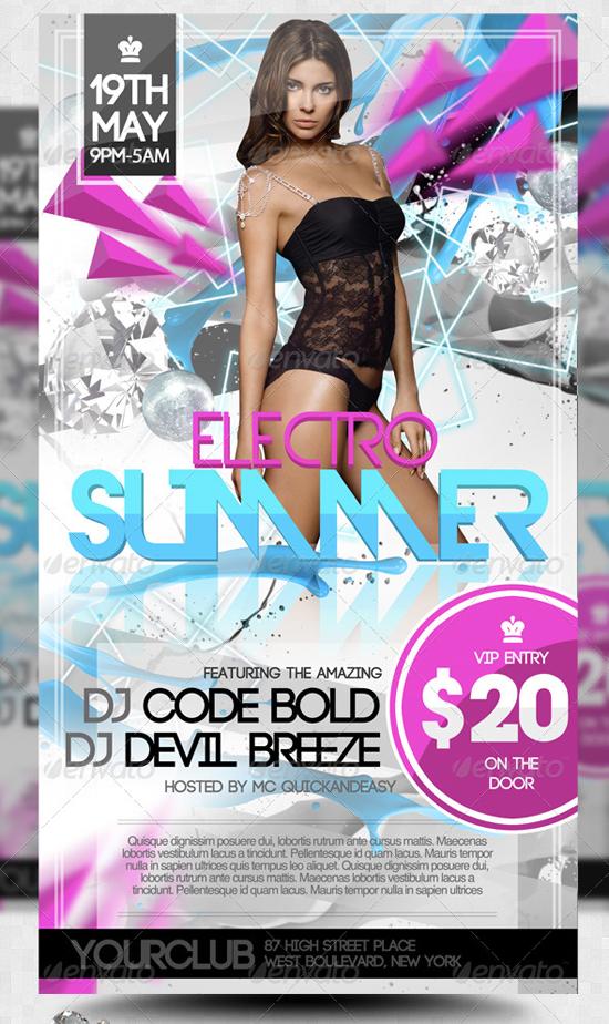 Electro Summer D&B Flyer Template