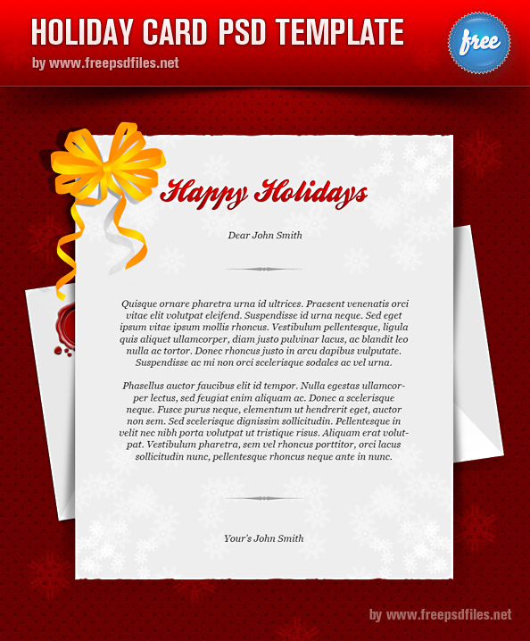 greeting card template: