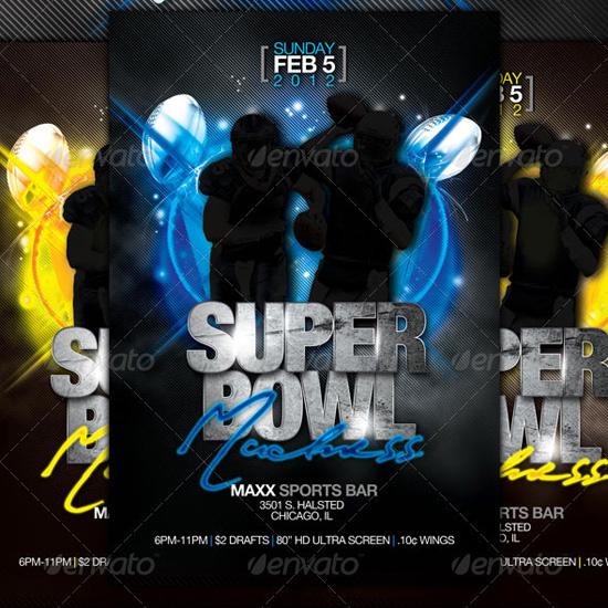 Super Bowl Flyer Template