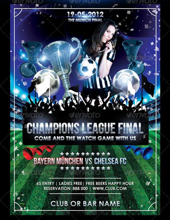 Champions League Final Flyer Template
