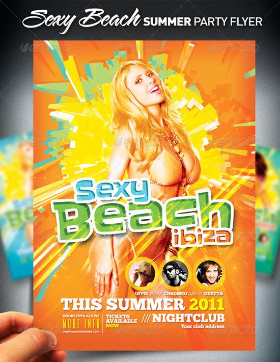 Sexy Beach Summer Flyer Template