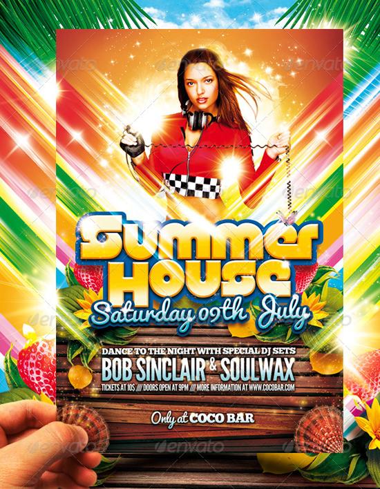 Spring Break Flyer Template Summer House