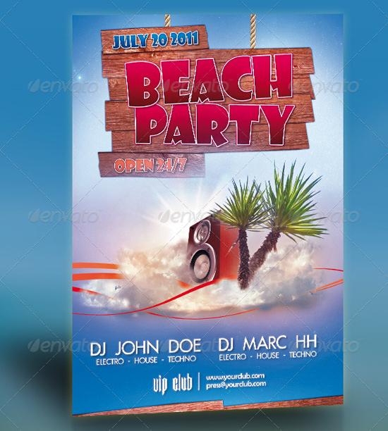 Beach Party Flyer 2